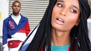 TRANSFORMING MY BOYFRIEND TO A GIRL FOR A DAY | Shalom Blac