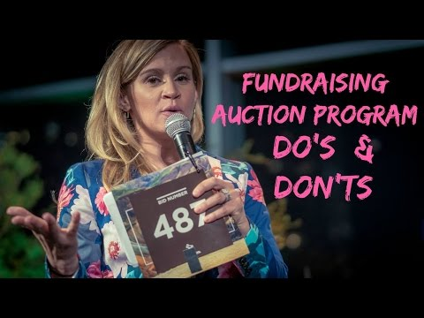 Live Auction Catalog Dos & Don'ts | Best Charity Auction Catalog Ideas