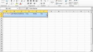 Excel 2010 Tutorial Creating A Table Microsoft Training Lesson 23.1