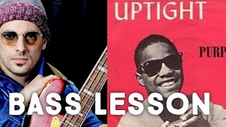 Uptight - Stevie Wonder  Bass Lesson With Play Along Tab