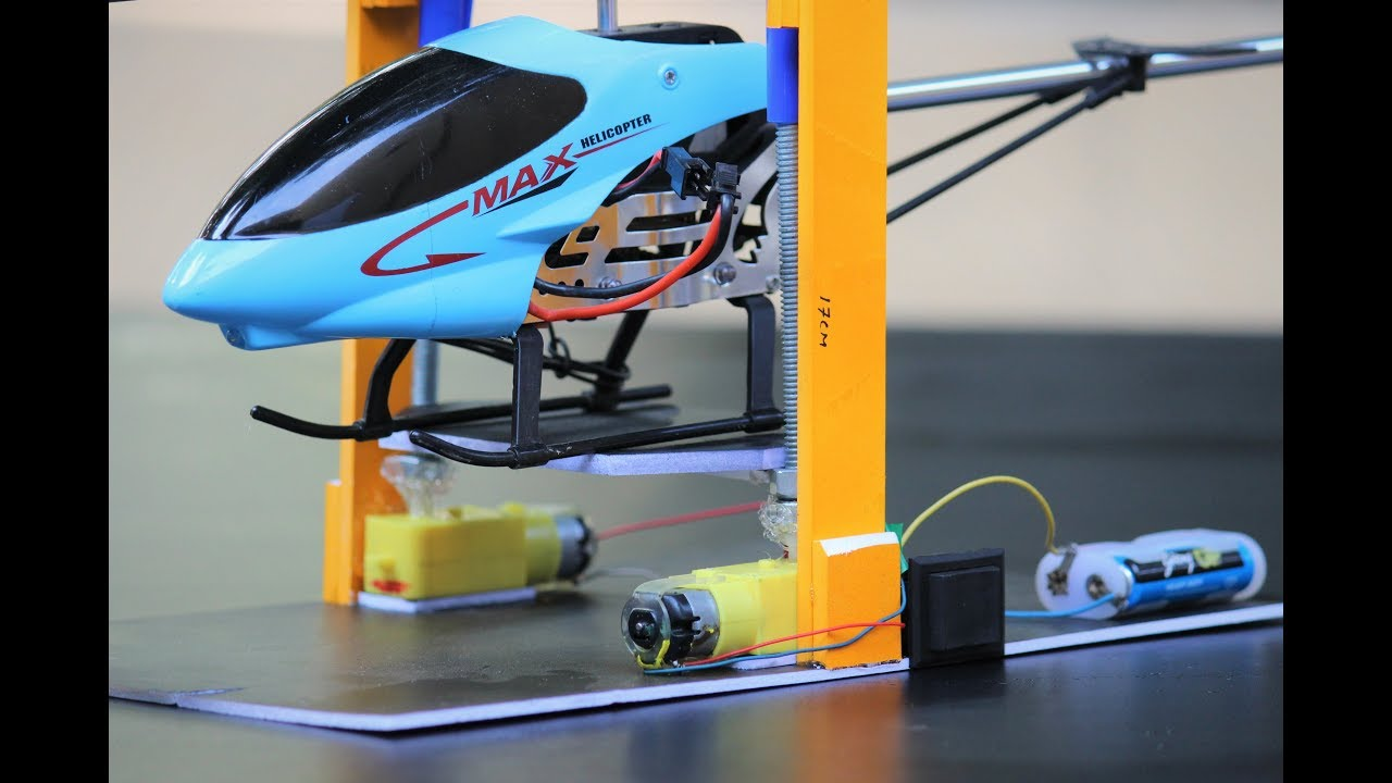 How to make a helicopter and car Lifting machine from DC motor