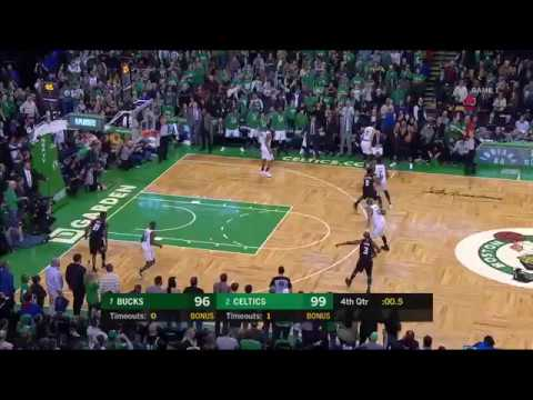 Khris Middleton's Buzzer Beater R1G1 vs. Celtics (Gus Johnson Call)