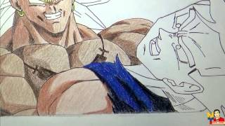 Dibujando a Broly Vs Gohan Dragon Ball Z(Drawing DBZ)NITO OCHOA