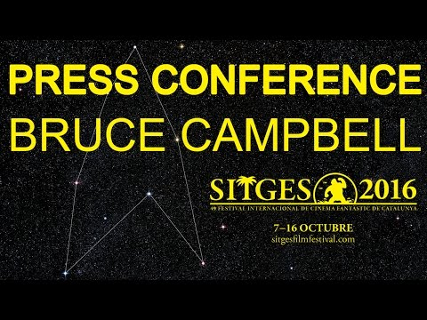 Sitges 2016: Press conference - Bruce Campbell