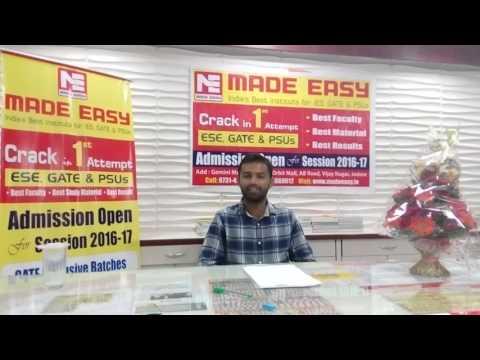 Gaurav Sharma, AIR - 1, PI (MADE EASY Classroom Student)
