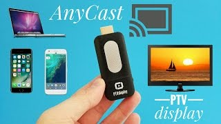 pTVdisplay Airplay WiFi Miracast Dongle REVIEW - Mirror your screen on any device for 10