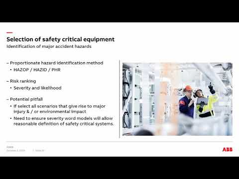 Selection And Management Of Safety Critical Equipment Webinar