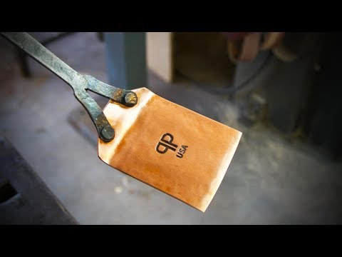 Forging a Copper and Steel Spatula