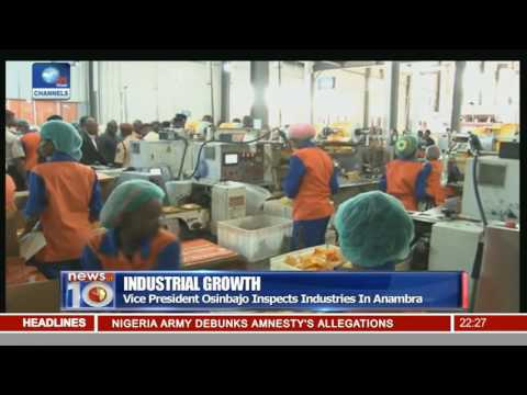 Osinbajo Inspects Industries In Anambra State