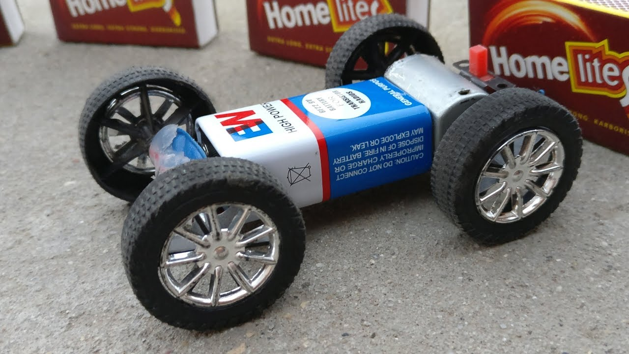 How To Make A Powerful Electric Toy Car At Home Mini Car Youtube