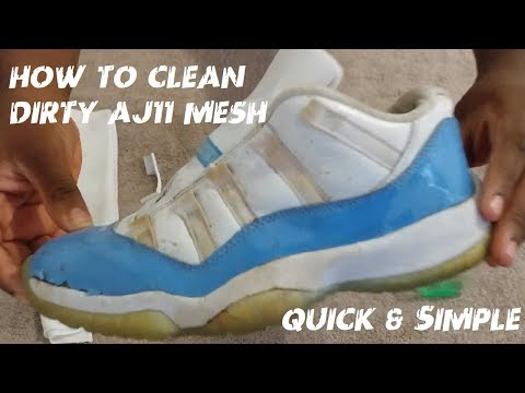 How To Clean Air Jordan 11 Mesh Quick & Simple