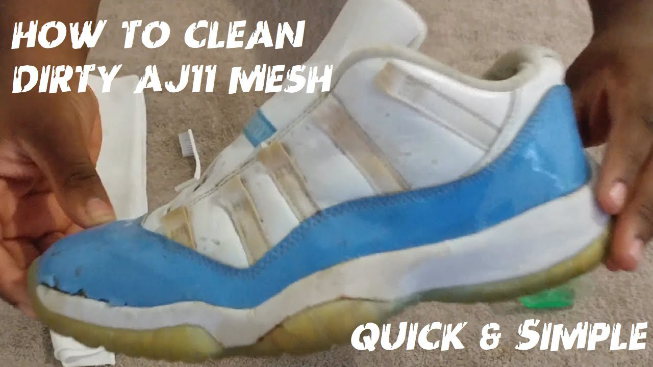 cbc9721bb36f How To Clean Air Jordan 11 Mesh Quick   Simple - YouTube