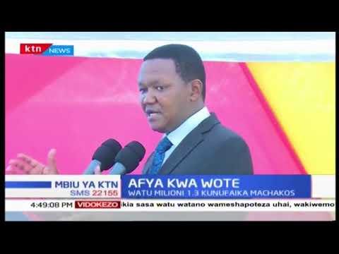 Gavana wa Machakos Alfred Mutua kuanza mradi wa Afya kwa wote
