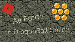   All Forms in Dragon Ball Online  Roblox  Jed Ivan [Roblox]