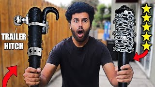 I Bought DIY Zombie Apocalypse SURVIVAL WEAPONS From Amazon!! (5 STAR) *ZOMBIE SURVIVAL CHALLENGE*