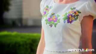 видео купити вишиті сукні та вишиті українські жіночі плаття  у Києві