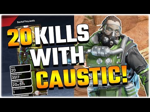 Unlocking the 20 KILL BADGE FOR CAUSTIC! (Apex Legends PS4)