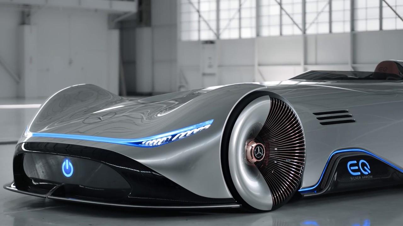 Mercedes Benz Vision EQ Silver Arrow Concept Footage