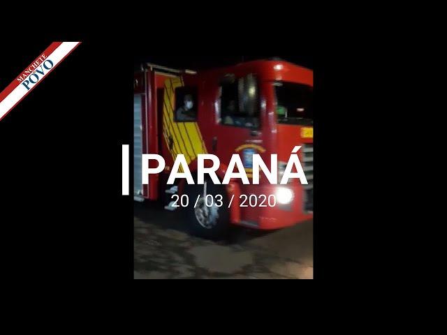 Fique em Casa, essa foi a mensagem dos bombeiros aos paranaenses