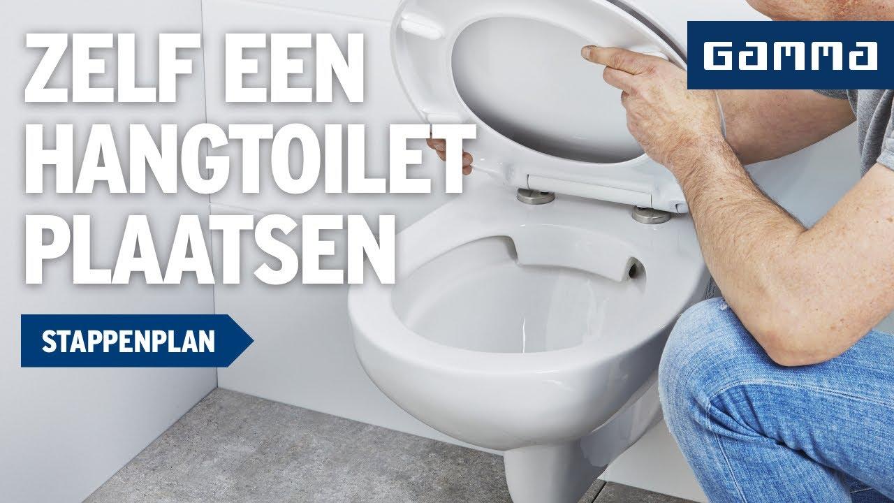 Zwevend Toilet Gamma : Hangtoilet plaatsen klustips gamma belgië youtube
