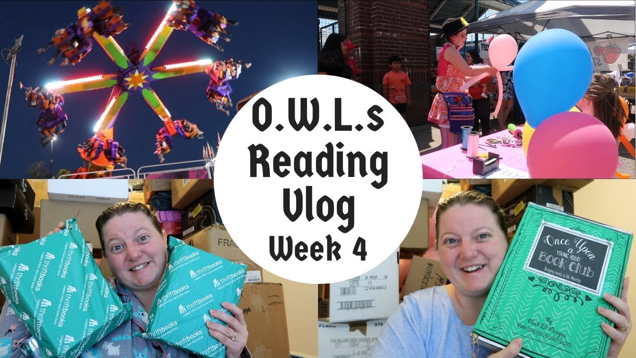 Reading Vlog OWLs Week 4 / Book Hauls & Come With Me To...
