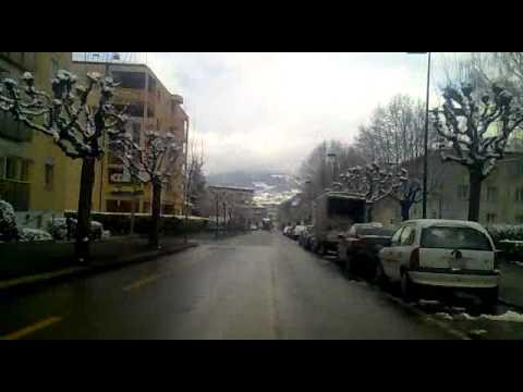 Monthey, Valais, Suiça, com neve, 0° 26 11 2010