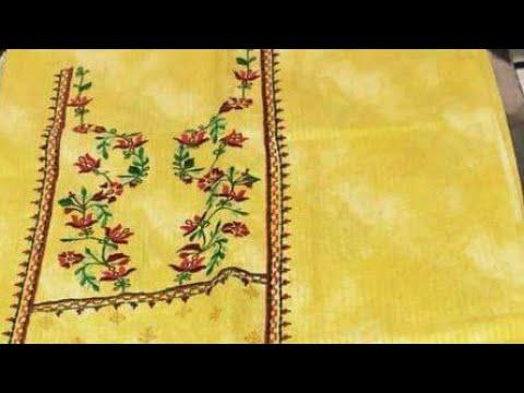 Machine embroidery designs#New suits with machine work/kdaai#punjabi suit  salwar designs
