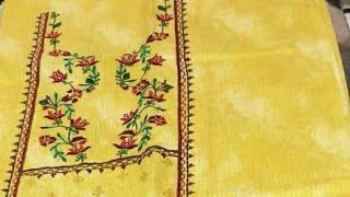 Machine embroidery designs#New suits with machine work/kdaai#punjabi suit salwar designs