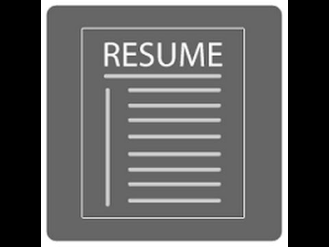 resume preparation for freshers