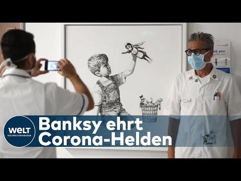 BANKSY: Streetart-Künstler überschascht und ehrt Klinikpersonal in Southampton