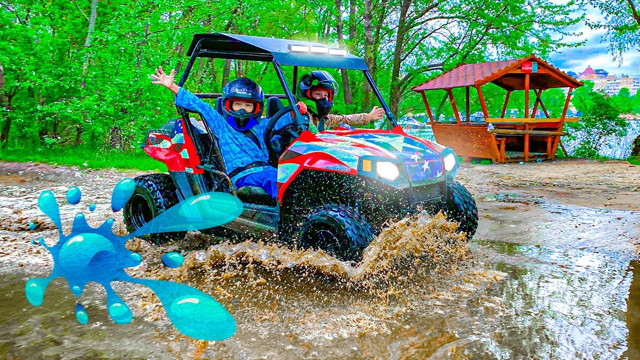 Den ride on Puddle on Car and Quad Bike