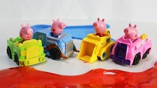 СВИНКА ПЕППА на русском Мультик для детей Учим цвета Развивающие мультики про машинки PEPPA PIG TOYS