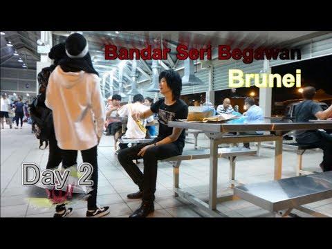 Brunei Travel d2,名古屋ホスト社長、空の東南アジア旅行・ブルネイ旅行、夜のニューモスク