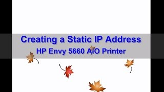 Change to a Static IP Address …