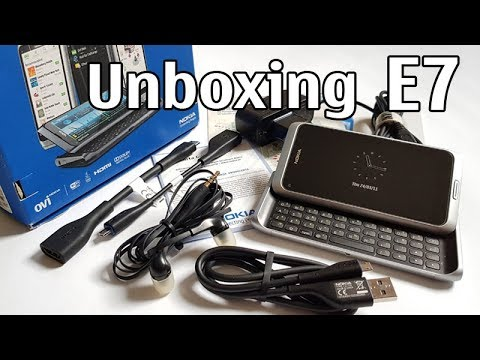 Nokia E7 Unboxing 4K with all original accessories Nseries RM-626 review