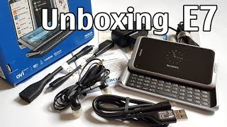 nokia E7 Silver Unboxing 4K with all original accessories Nseries RM-626 review