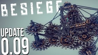 Besiege Update 0.09 Gameplay - Shotgun Cannon? Large Gears & More