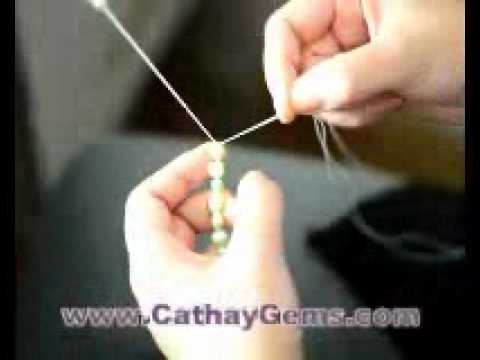Pearl Necklace How To Make With Real Pearls Youtube