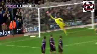 Kevin Mirallas Freekick vs West Ham (1-1)