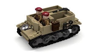 Lego WWII Bren/Universal Carrier Instructions