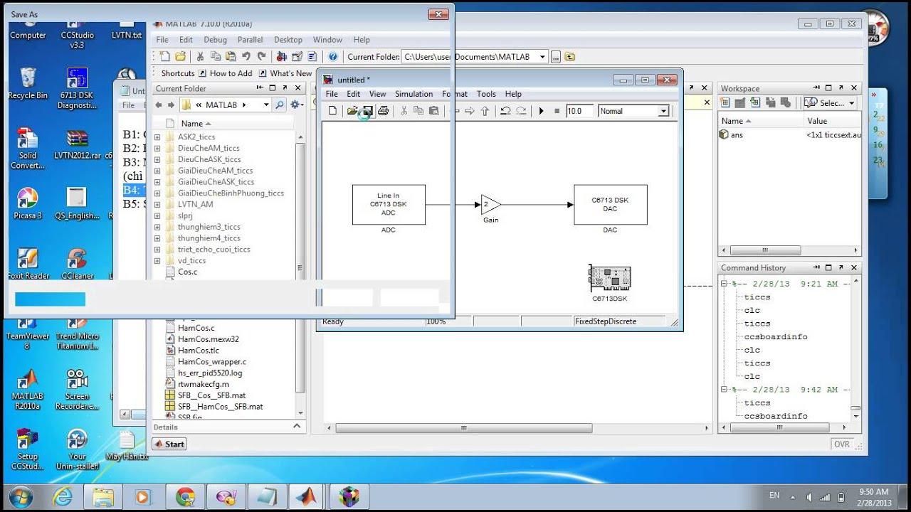Hướng dẫn kết nối Code Composer Studio và Simulink của Matlab (DSK TMS320C6713 Texas Instruments)
