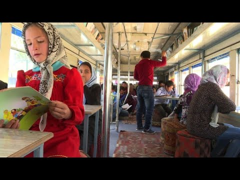 Kabul Library Bus Drives Afghan Children To Read