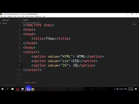How To Disable An Option Of Select In HTML