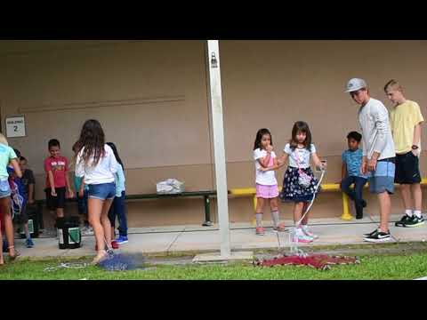 Chastenation teaching KIDS how to FISH at Kinnan Elementary school