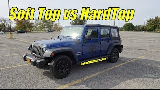 Jeep Wrangler Unlimited Soft Top vs Hardtop Pros and Cons | Which to Buy?