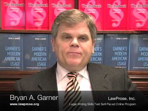 The Legal-Writing Skills Test, LawProse, Bryan Garner