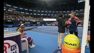 Sloane Stephens Getting Her Wakeup Call After White Player Tries to Get In Her Face w/NO PENALTY thumbnail