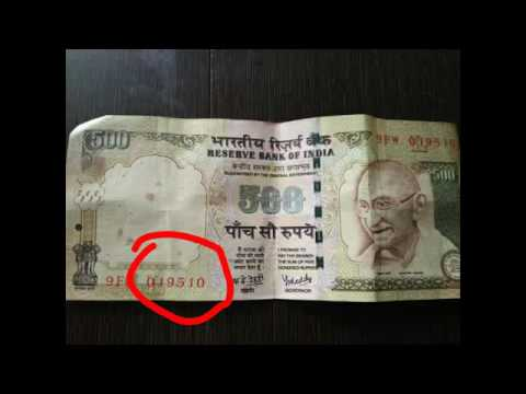 Rare Indian Rupee Note