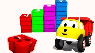 Building Stairs with cubes: learn numbers with Ethan the Dump Truck
