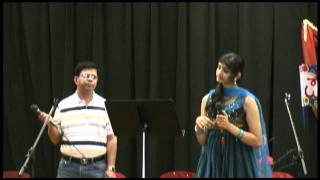 "Neha Nataraj and Sridhar Subbarao singing Kannada song ""tanuvu manavu"""